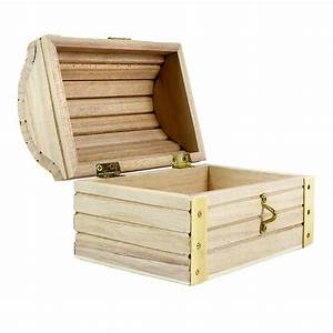 "ArtMinds® Wood Treasure Chest, 5 12"" x 3 43"" x 3 54"""