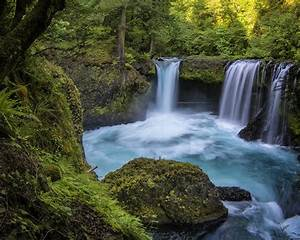 Beautiful, Waterfall, Blue, Water, Rocks, Green, Forest, Hd, Desktop, 2560x1600, Wallpapers13, Com