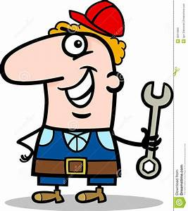 Manual Worker Cartoon Illustration Stock Vector