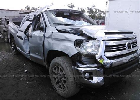 tfdwfgx salvage title silver toyota tundra