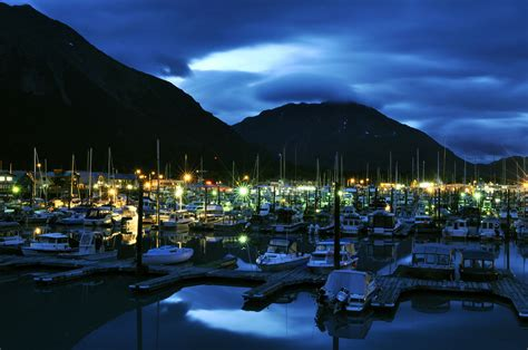 Boat Browser Night Mode by Seward Small Boat Harbor Alaska At Night A Photo On