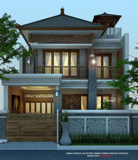 rumah etnik jawa  lantai joglo desain fasad rumah khas
