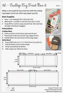 Two Scallop Tag Topper Treat Boxes   U0026 Instructions