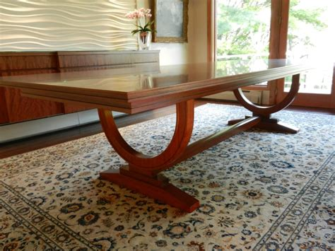 Custom 12 Ft Dining Room Table With Inlay Border