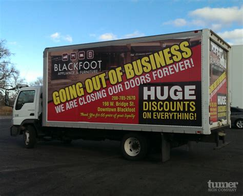 blackfoot furniture box truck wrap turner sign co