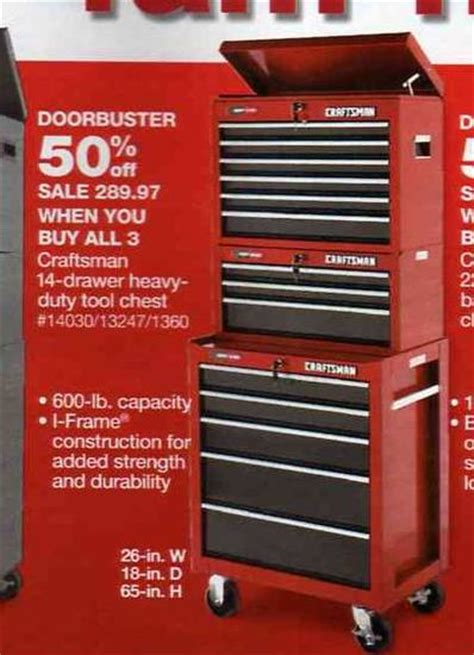 black friday tool cabinet deals craftsman 14 drawer heavy duty tool chest at sears black