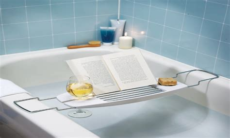 bath caddy with reading rack bathtubs accessories bathtub caddy with reading rack