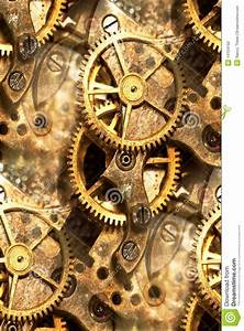 Clockwork gears abstract stock photo. Image of aged ...