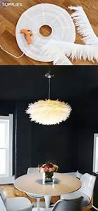 Stehlampe Mit Federn : die besten 25 diy lampenschirm ideen nur auf pinterest diy lampen lampen selbst bauen und ~ Sanjose-hotels-ca.com Haus und Dekorationen