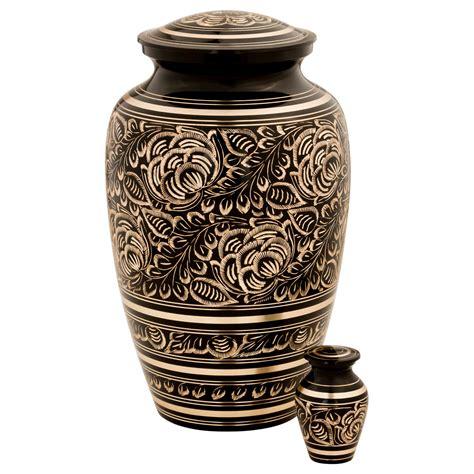 Villarose Brass Cremation Urn for Ashes