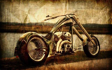 Vintage Chopper Wallpaper