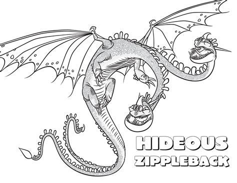 train  dragon coloring pages zippleback