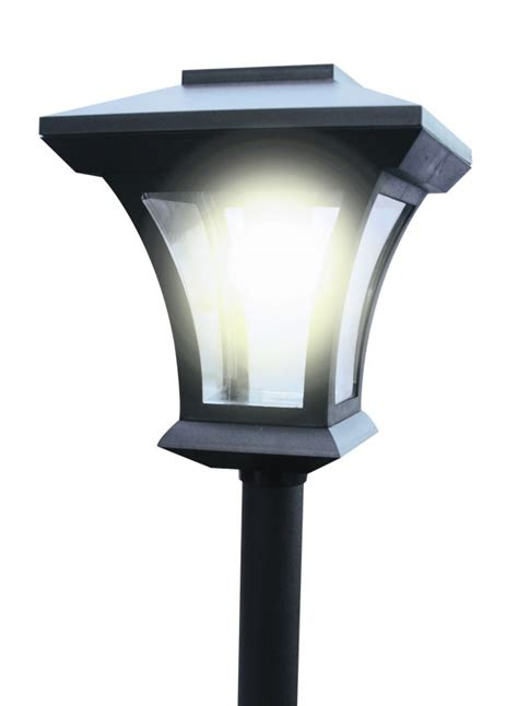 new 1 66m solar power garden patio l post light led
