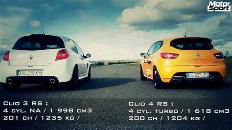 siege clio 3 rs drag race renault clio 4 rs vs clio 3 rs cup motorsport