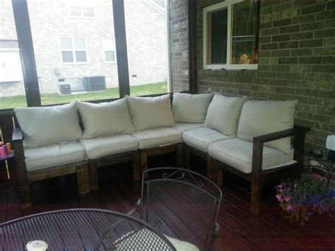 ana white outdoor sectional sofa diy projects