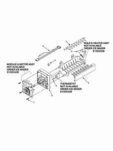 Ice Maker Diagram  U0026 Parts List For Model Asd2627keb Amana