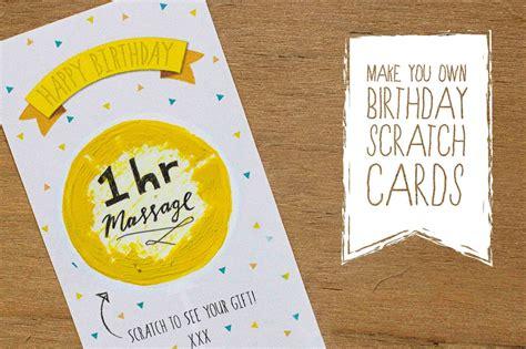 bells  whistles birthday scratch card diy