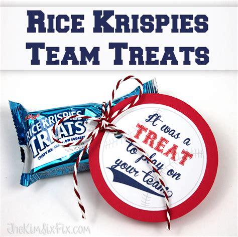 Rice Krispy Treats Gift Tag Ideas