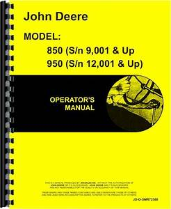 John Deere 850 Tractor Operators Manual