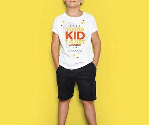 young kid t shirt free psd mockup age themes With clothes mockup free