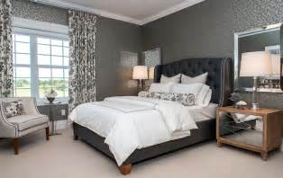 Joss And Main Wingback Headboard by Black And Gray Bedroom Eclectic Bedroom Bryn