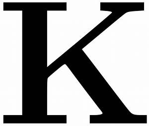 letter k clipart clipart suggest With large letter k