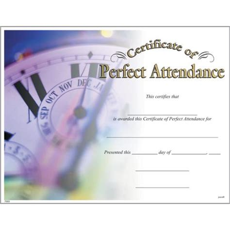 perfect attendance certificates photo perfect attendance