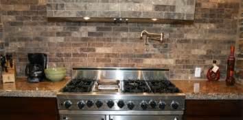 brick backsplashes for kitchens faux brick tile backsplash in the kitchen tile