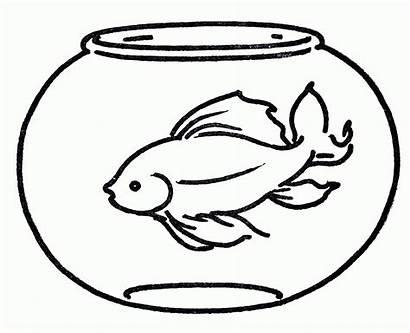 Fishbowl Clipart Fish Bowl Coloring Printable Clipartmag
