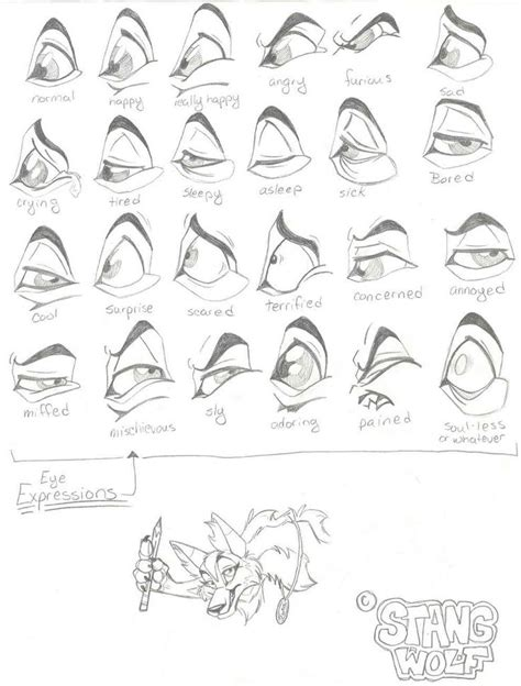 eye expressions  stangwolf  deviantart illustrated