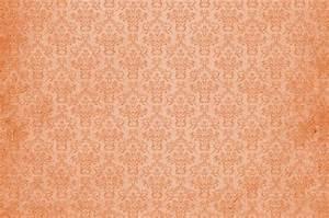 Damask Vintage Background Orange Free Stock Photo - Public ...
