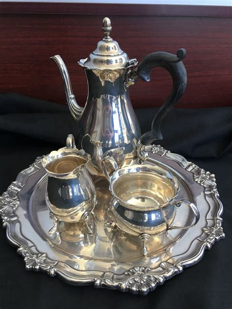 There are 4889 coffee sugar creamer for sale on etsy, and they cost €113.04 on average. 4 Piece Tea Set Creamer , Sugar , Coffee / Tea Pot w/ Tray - 50 ozt - Tangible Investments
