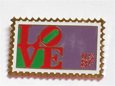 Love Usa 8c Postage Stamp Pin (sea6)