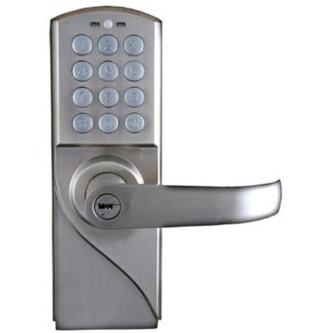 code door lock lockstate 10 code digital keyless single cylinder silver
