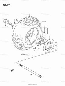 Suzuki Atv 2005 Oem Parts Diagram For Right Rear Wheel