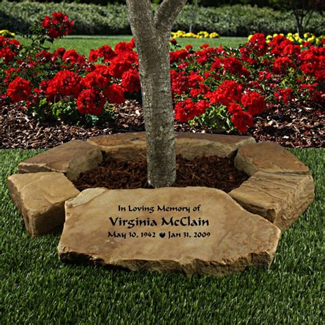small tree memorial garden ring personalized gifts