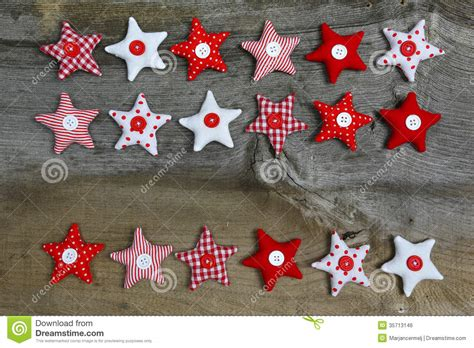 merry christmas decoration red  white fabric stars