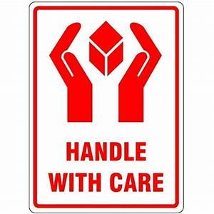 HANDLE WITH CARE - Parcel Labels