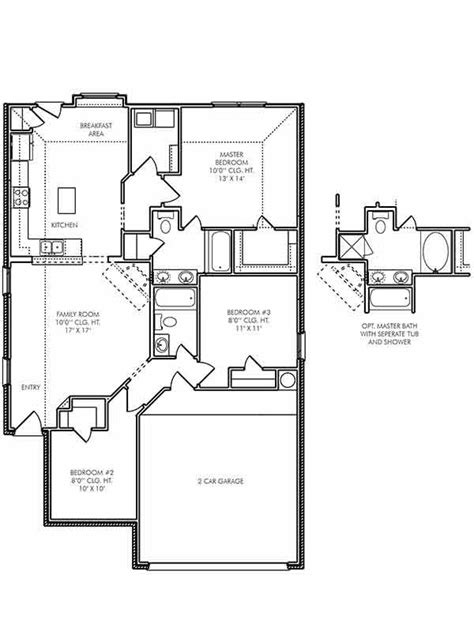 single story house plans  humble tx  mallory  atascocita trace   bedroom home
