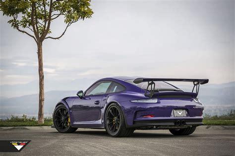 modified porsche gt3 purple beast vorsteiner goes to town on porsche 911 gt3