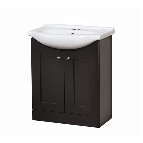 vanity with top and sink shop style selections euro vanity espresso belly sink