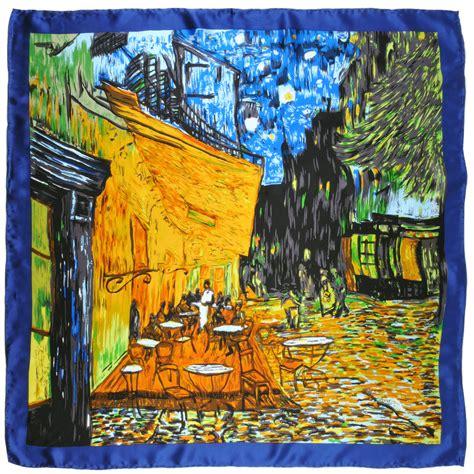 bureau carré de soie carré soie silkart café de nuit gogh