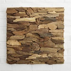 Driftwood Wall Art Panel - Horizontal Pattern
