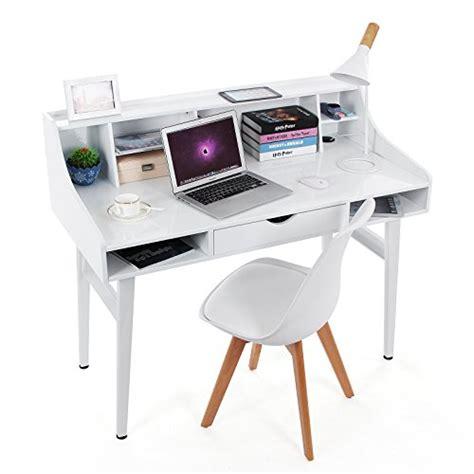 bureau informatique 120 cm songmics bureau informatique coiffeuse table de maquillage en panneaux de fibres mdf surface de