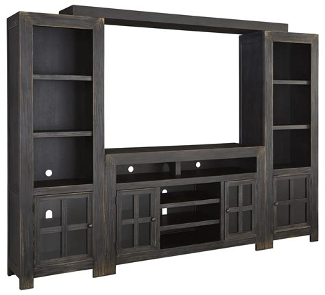 saginaw on wall units furniture signature design by gavelston entertainment wall