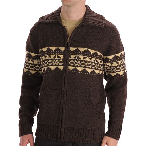 mens patterned sweaters boston traders patterned wool cardigan sweater for