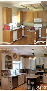 37 brilliant diy kitchen makeover ideas With best brand of paint for kitchen cabinets with kinetic wall art