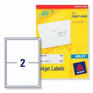 Avery inkjet labels 2 sheet 1996x1435mm j8168 100 100 for Avery cable label sheets
