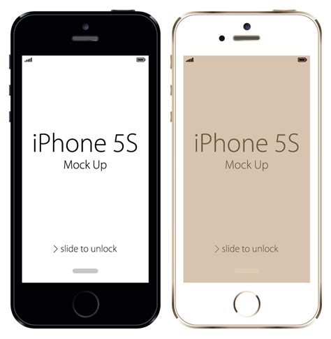iphone 5s free iphone 5s mock up vector free vector graphic
