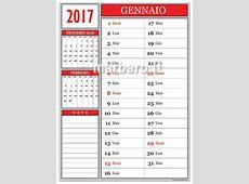 Calendario 2017 mensile da stampare scarica gratis il PDF